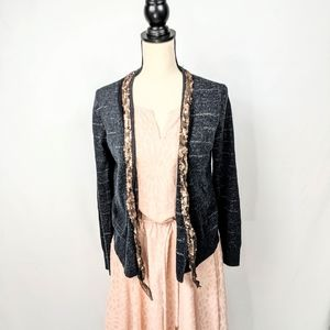 Ann Taylor • Loft Open Cardigan with Sequins